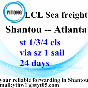 Shantou Sea Freight Agent to Atlanta