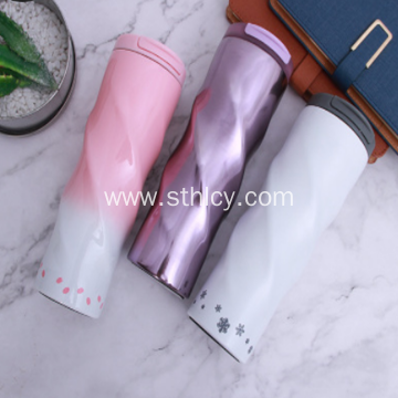 Stainless Steel Thermos Cup Creative Gradient