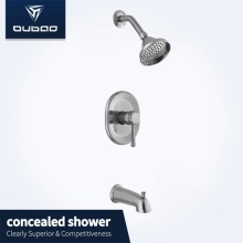 Bathroom Wall Mounted Chrome Brass Shower Faucet Sets