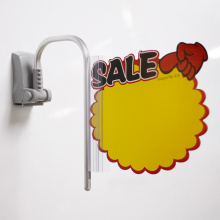 magnet shelf label holder banner display stand