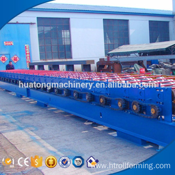 H shape steel welding stocked metal floor deck floor making machine