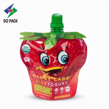 Grape juice special shape pouch with spout