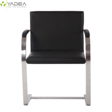 100% Original for Stainless Steel Leather Dining Chair Replica Mies Van Der Rohe leather brno chair supply to Germany Exporter