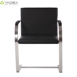 Discountable price for Matt Stainless Steel Dining Chair Replica Mies Van Der Rohe leather brno chair export to Japan Exporter