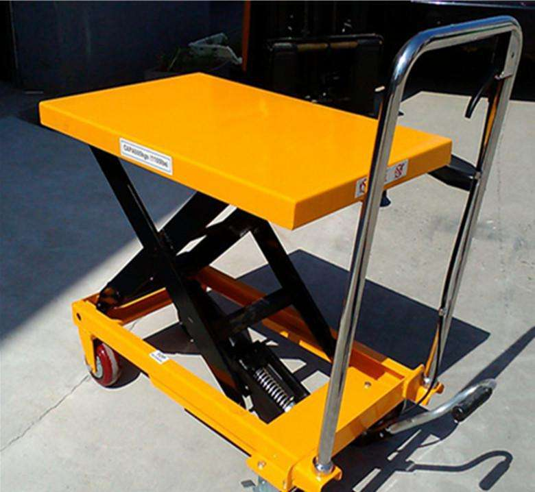 Solid Steel Trolley Jack Pallet Hydrulic Lift Scissor Dolly Lift
