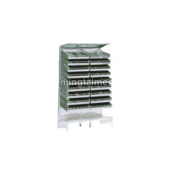 Steel spray double row western drug shelf