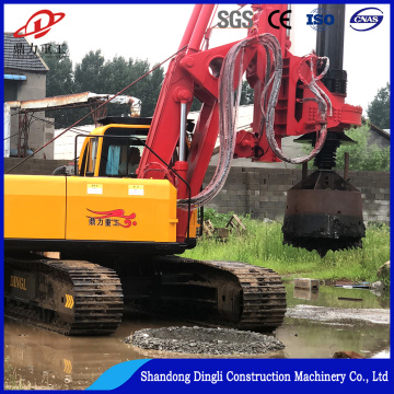Road construction pile driver machine