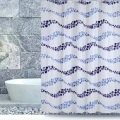 Shower Curtain PEVA Classic Blue Waves