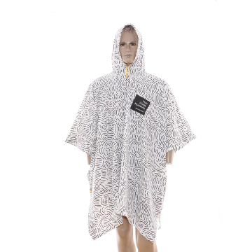 6P Eco-friendly pvc reuseable rain poncho