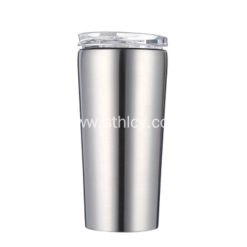 Double Wall Stainless Steel Cup With Sliding Lid