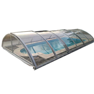 Slide Shelter Swimming Pool Telescopic Cover