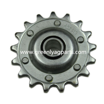 Best Quality for Case IH Combine Parts, Case IH Corn Head Parts Leading Manufacturer,Chain drive sprocket with heat treatment, lower idler support AG2416 Case-IH 17 teeth idler single pitch sprocket supply to Cameroon Manufacturers
