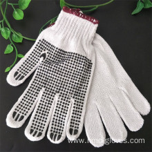 Cotton Knitted Beached PVC Dotted Safety Working Gloves
