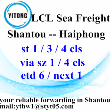 Hot New Products for Sea Freight LCL LCL Logistic Services from Shantou to Haiphong export to Armenia Manufacturer