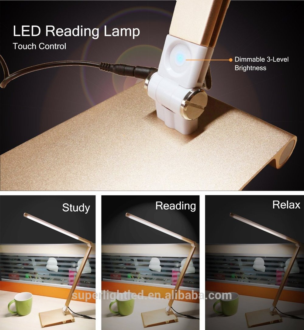 Simple style led touch metal desk lamp
