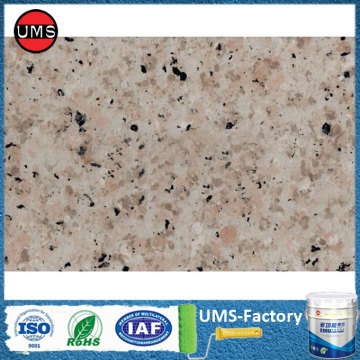 Faux granite crystals wall paint