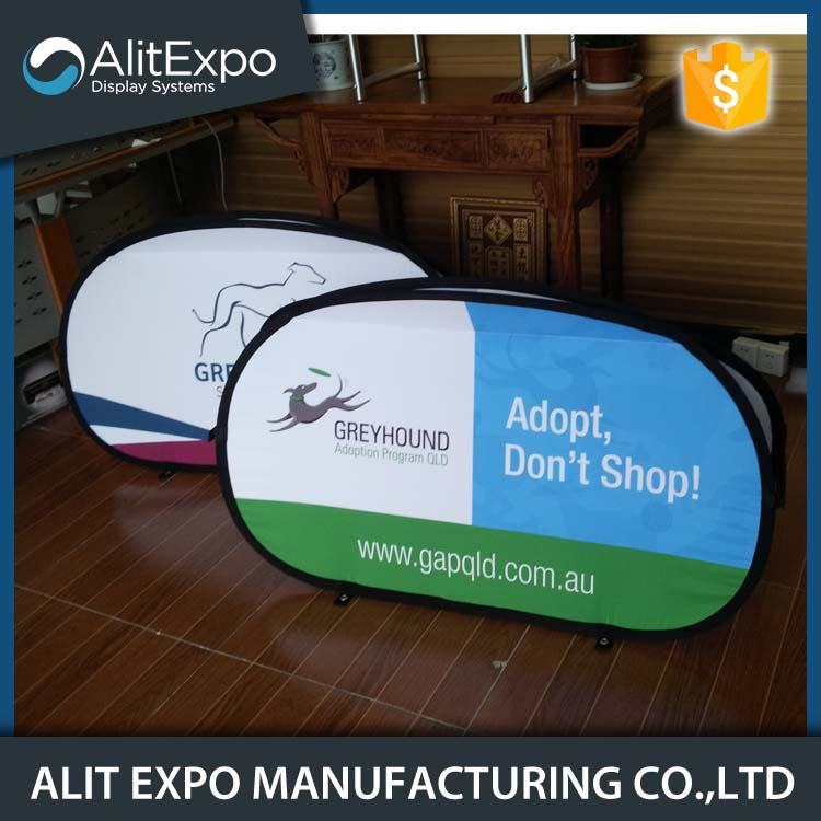 Portable fabric display advertising pop up