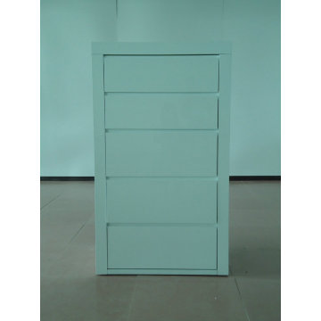 Modern white high gloss bedroom drawer chest
