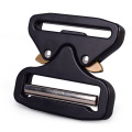 5cm Heavy Duty 18KN Metal Quick Release Cobra Belt Buckle With Black Electrophoresis