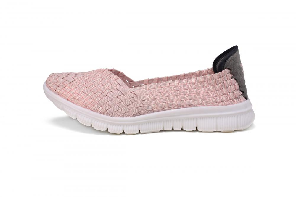 Pink Woven Pumps