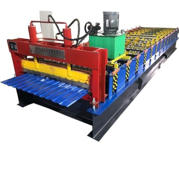 Trapezoidal single layer roofing sheet roll forming machine