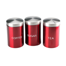 Set of Stainless Steel storage jars canisters