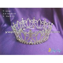 Full Round Flower Crowns Rhinestone Queen Crowns For Sale