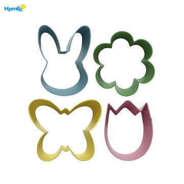 Mini Metal Easter Cookie Cutters Set