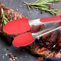 Silicone Kitchen Cooking Salad Serving BBQ Tongs