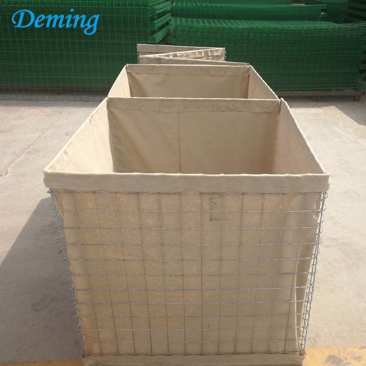 Hot Dipped Galvanized Hesco Bastion Flood Protection Barrier