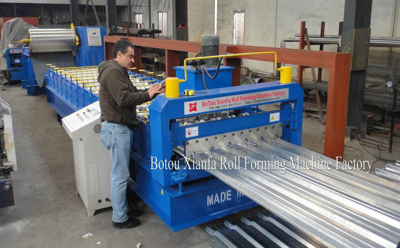 alu zinc rooing tile forming machine