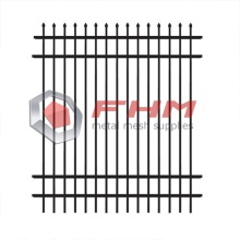 PVC Coated Wrought Steel Picket Palisade Fencing