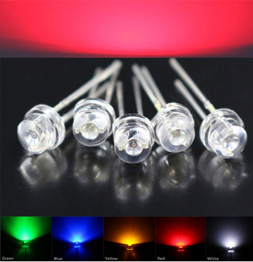 5mm Red Straw Hat LED