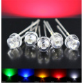 5mm Straw Hat Red LED 620-625nm Sort Pin
