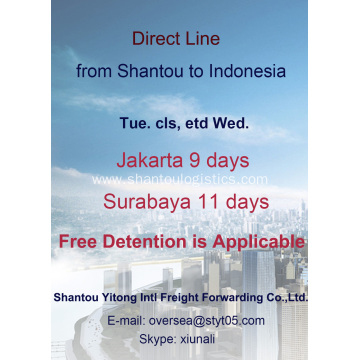 Shantou Sea Freight to Indonesia