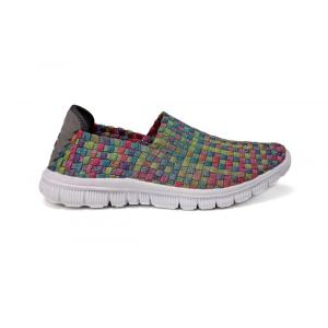 Mosaic Multi-color Breathable Soft Woven Vamp Loafers