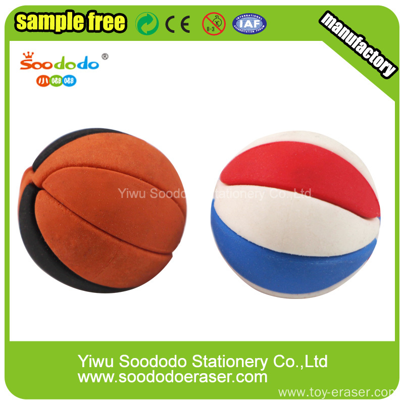 Baksetball Shaped Eraser ,Sport Fashion Erasers