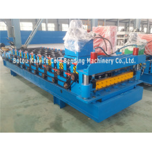 China Exporter for Trapezoidal Tile Roll Forming Machine,Metal Roof Tile Making Machine Manufacturer in China Trapezoid Roofing Sheet Cold Rolling Forming Machine supply to Guyana Factories