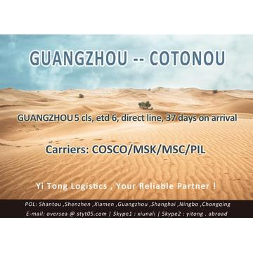 Guangzhou Sea Freight to Cotonou