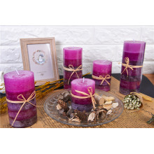 Colored Unscented Rustic Pillar Candles