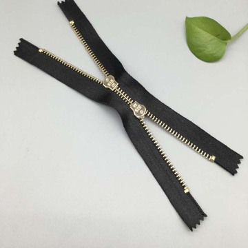 Clothing Accessories 12 inch metal separating zipper