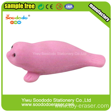 Yellow Sea Lion  Shaped Eraser,Rubber School eraser
