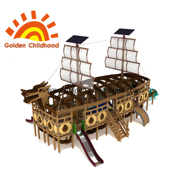 Dragon Boat Outdoor Playground Equipment For Sale