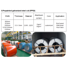 Fixed Competitive Price for Metal Corrugated Roofing Sheets Roll Forming Machine Prepainted galvanized steel coil (PPGI) export to United States Minor Outlying Islands Supplier