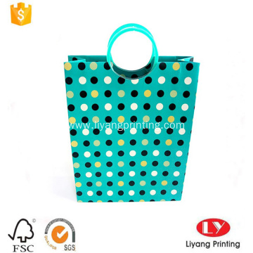 Luxury paper gift bag with plastic handle