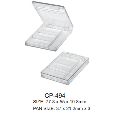 Square Transparent Cosmetic Compact Case