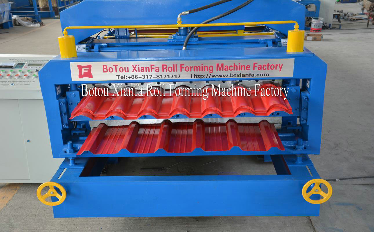 glazed tile and IBR panel machine