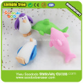 ocean animal series penguin and dolphins rubber eraser