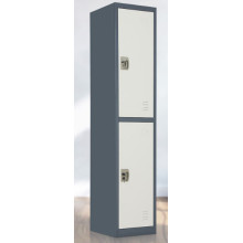 New design 2 door Metal locker with mirror