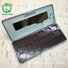 Hot selling cosmetic tin box for eyeshadow